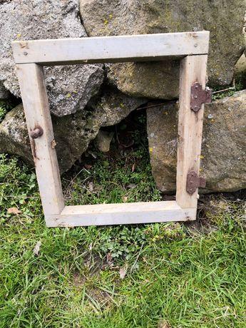 Stary luft okno stare drewno eko 35cm x 39cm