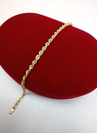Złota bransoletka kordel pr. 585