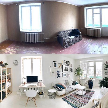Ремонт квартир, кімнат, кухонь, офісів, частковий, косметичний