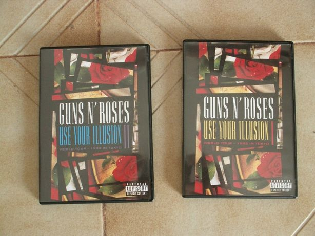Vendo estes 2 Dvds dos Guns N Roses Novos
