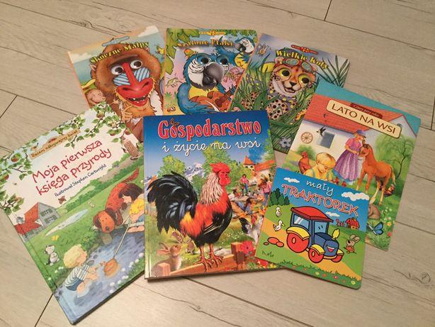 Książeczki dla dzieci- zwierzęta 6 książek o przyrodzie dla malucha,
