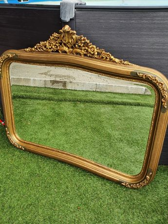 Espelho vintage Talha Dourada
