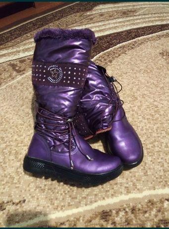 Сапоги сапожки ботинки зимние для девочки 35р