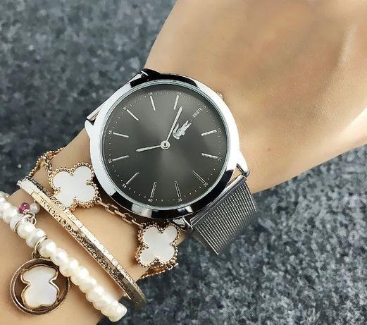 Женские наручные часы в стиле Лакоста браслет металлический кварцевые