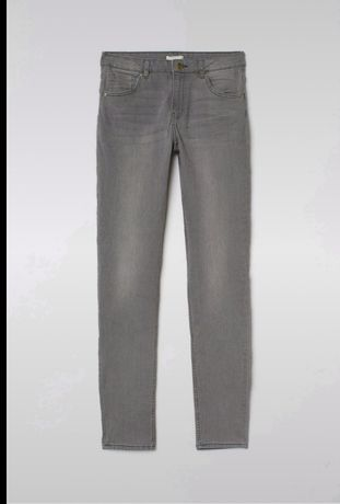 Szare jeansy Skinny ankle