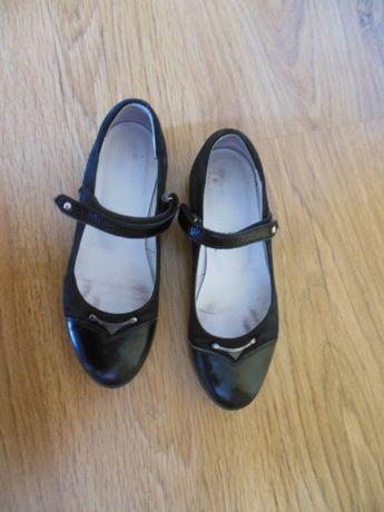 Туфли Каприз кожаные чёрные р.35