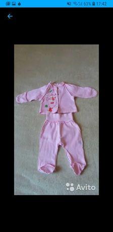 Продаю розовый костюмчик для девочки до года