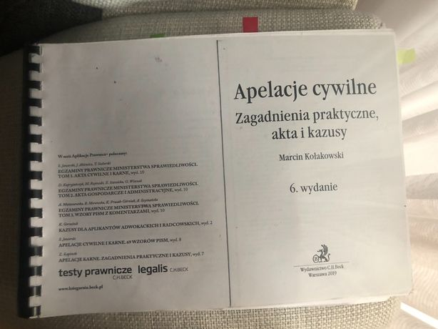 Apelacje cywilne - Zagadnienia praktyczne i kazusy M.Kołakowski