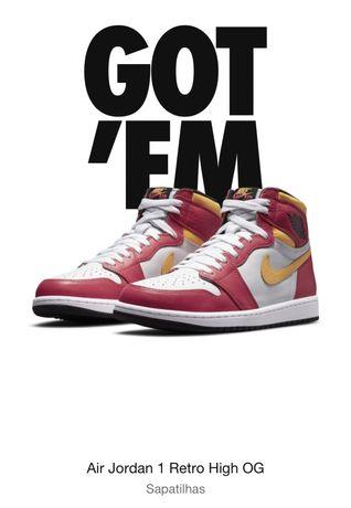 """Nike Jordan 1 Retro High OG """"Light Fusion Red"""""""