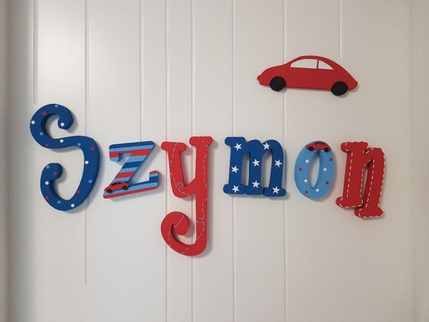 Litery na ścianę - SZYMON. Nowe, nieużywane.