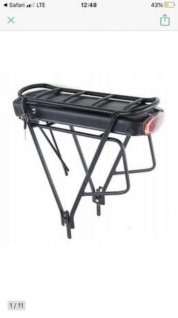 Bagaznik rowerowy pod baterie nowy.