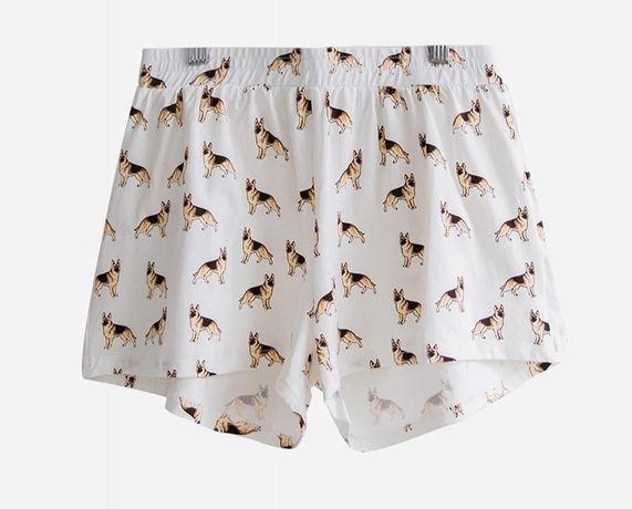 Spodenki szorty piżama owczarek niemiecki pies z UK jak NOWE r. S/M