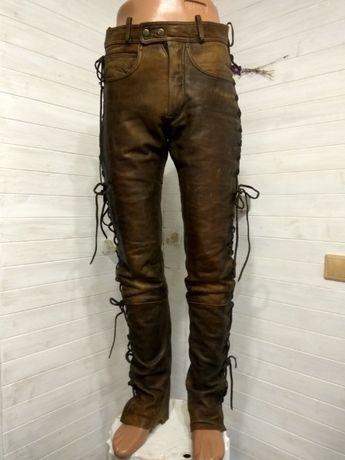 Мужские кожаные байкерские штаны CLASSIC GEAR 44M