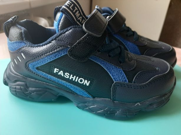 Кроссовки на мальчика тёмно-синего цвета