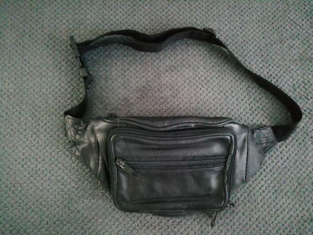 Шкіряна сумка на пояс