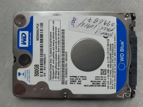 "Disco 2.5"" SATA III - WD Blue 500GB Slim - WD5000LPCX - TESTADO - 100%"
