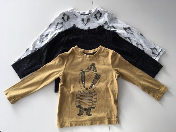 Trzypak, 3 x bluzka chłopieca, rozmiar 86, 12-18 miesięcy