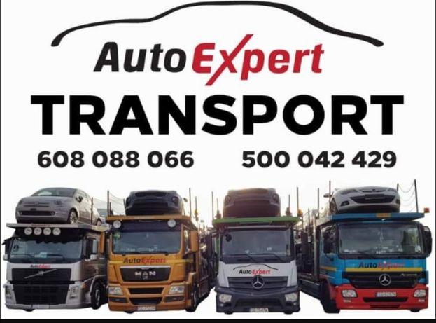 AUTO-EXPERT Transport Samochodów z Niemiec Belgi Holandii LAWETA