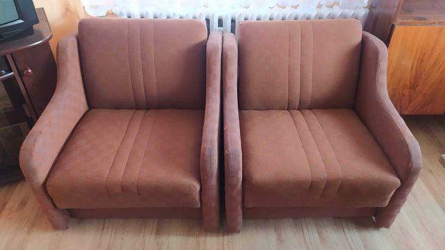 Fotel styl Vintage, PRL, retro -2 szt