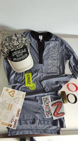 Zumba koszulka męska xs +czapka +akceoria