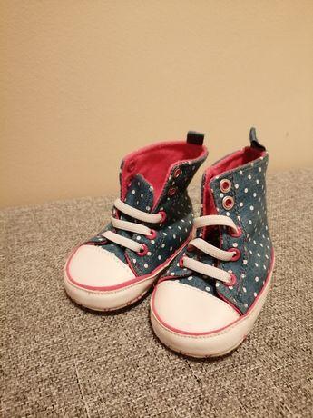 Buty buciki niechodki 6-9 miesiąca rozmiar 74 dla dziewczynki 19-20