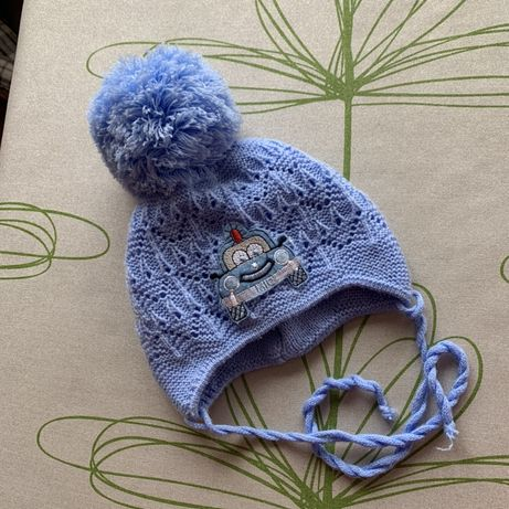 Детская теплая шапочка от 36 см