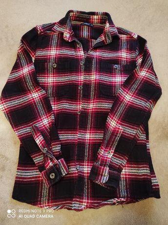Теплая рубашка на мальчика 10-12лет в идеале