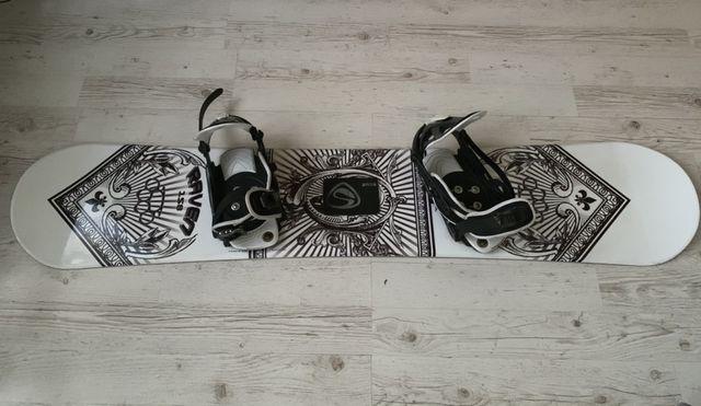 Deska snowbordowa Raven + wiązania Salomon + buty Stuff + gogle Alpina