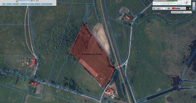 Dzialka rolna 2,6 hektara krzywin Widuchowa Chojna z widokiem