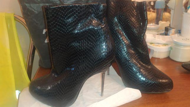 Ботильоны ботинки металл шпилька