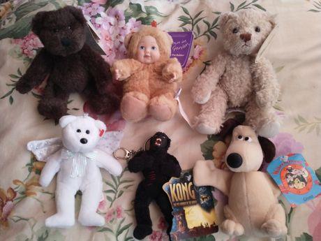 Maskotki misie teddy bear gromit king kong kolekcjonerskie