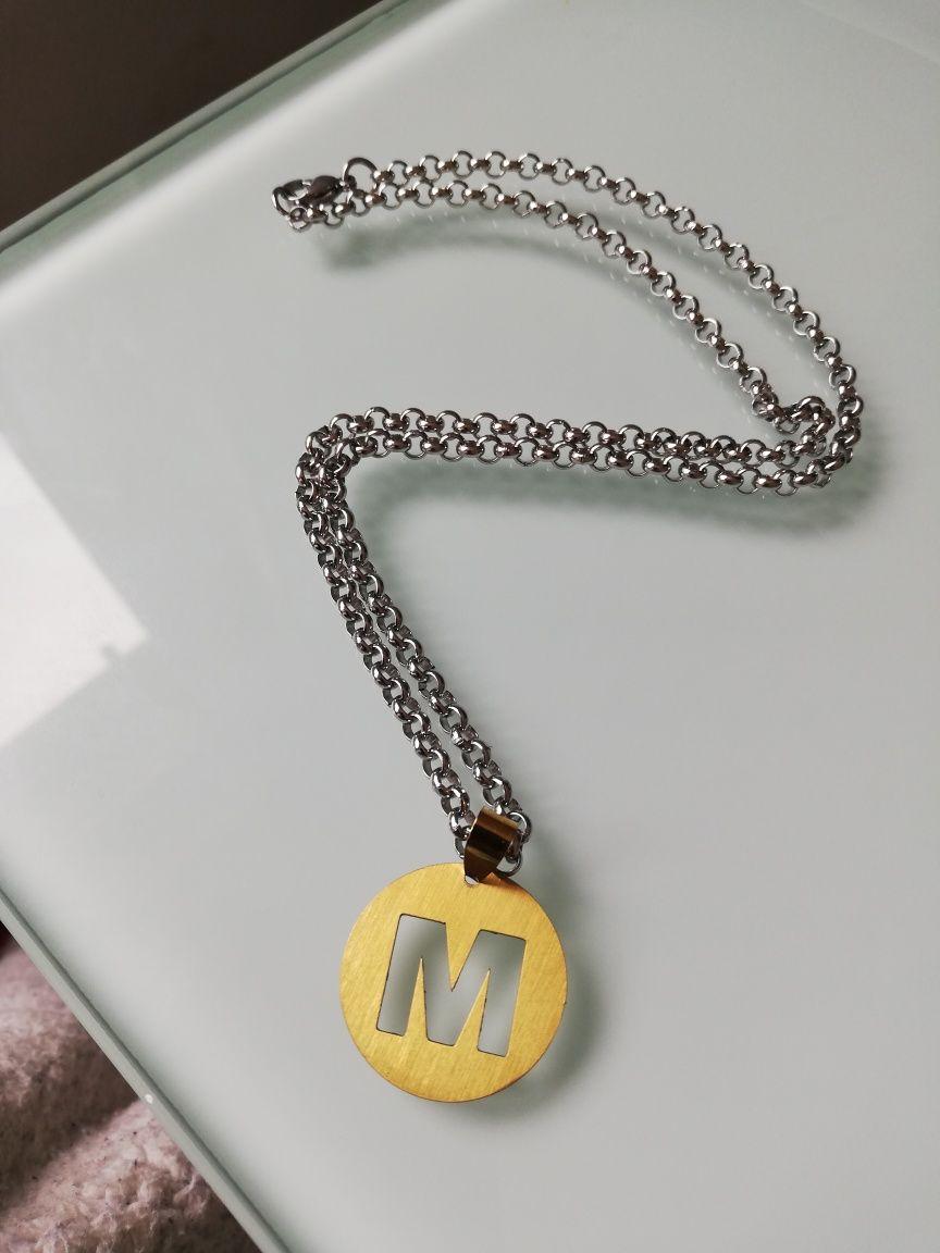 Fio Aço com Medalha letra M