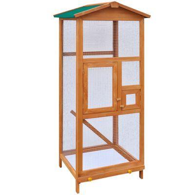 Gaiola para pássaros em madeira 65x63x165 cm **envio grátis**