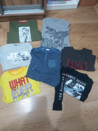 Bluzki cienkie dlugi z długim rękaw dla chłopca rozm 140 koszulki