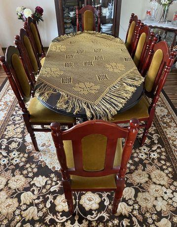 Stół drewniany + 8 krzeseł