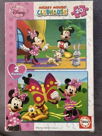 2 puzzles Disney - Mickey e Minnie