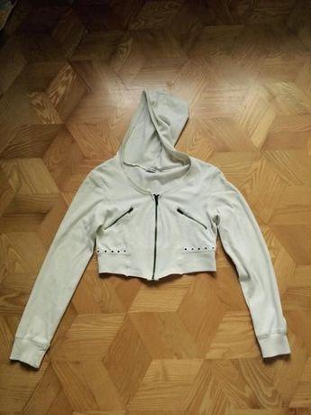 Bluza bolerko kremowe narzutka sweter sweterek kremowa jasna XS S 164