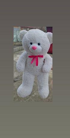 Огромный белый мишка, медведь 120 см