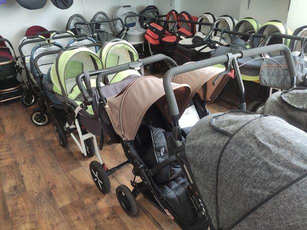 Wózki bliźniacze dla bliźniaków Bebetto 42 Dorjan Tako Easy Go
