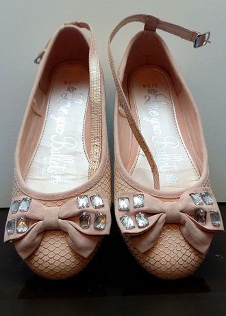 Baleriny, pantofelki dziewczynka 34