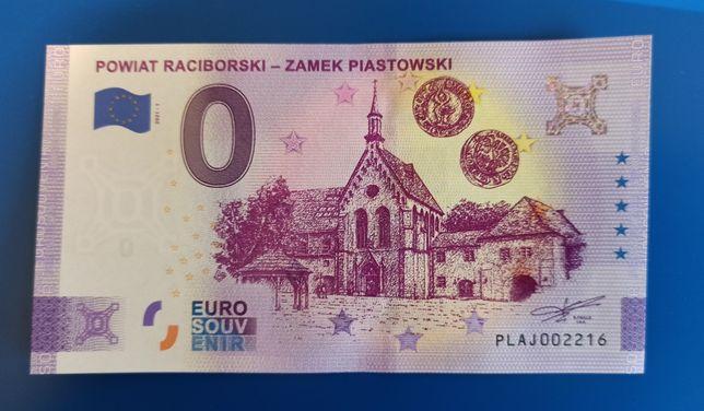 Banknot pamiątkowy 0 Euro Powiat Raciborski - Zamek Piastowski