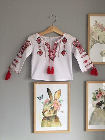 Вышиванка рубашка вышитая, вишиванка, сорочка вишита 9-12 мес