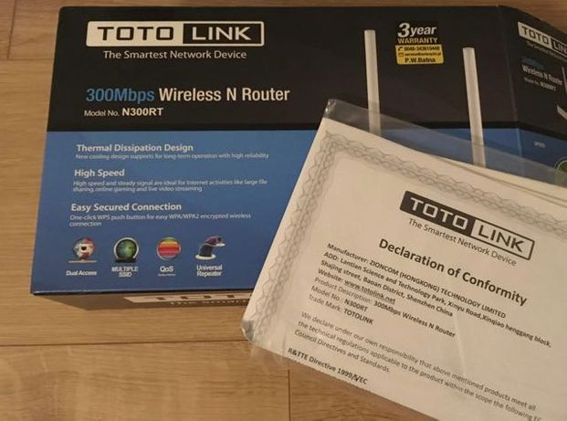 Router Wi-Fi TOTOLINK N300RT. Jak nowy