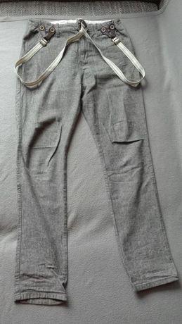 Spodnie Zara Boys z szelkami.