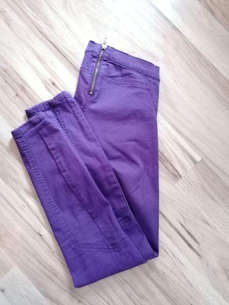 Fioletowe spodnie rozm. 34