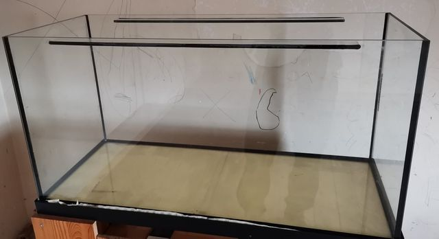 Akwarium 200 litrów 100x40x50 proste, stan bdb.