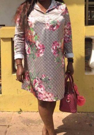 Sukienka w kwiaty sukienka w kwiatki L