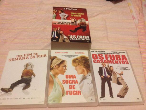 Caixas DVDs - várias