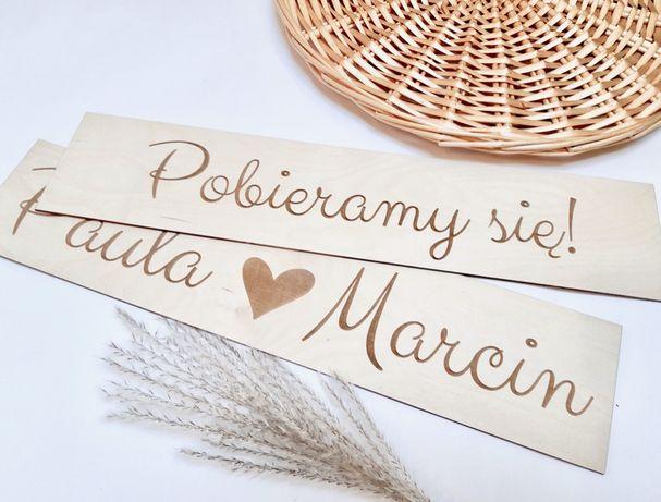 Komplet tablic ślubnych