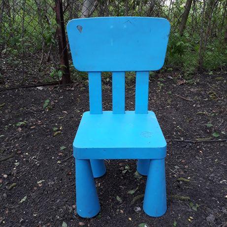 Krzesełko dla DzIeCkA - Krzesło IKEA Mammut ( Składane Nogi )
